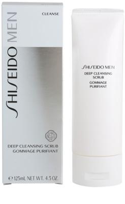 Shiseido Men Cleanse очищуючий пілінг для шкіри обличчя для чоловіків 1