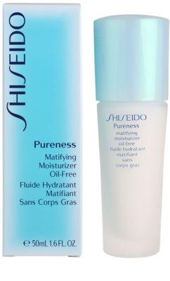 Shiseido Pureness leichtes, feuchtigkeitsspendendes Fluid für mattes Aussehen 3