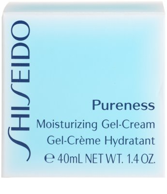 Shiseido Pureness creme gel hidratante para pele normal a mista 4