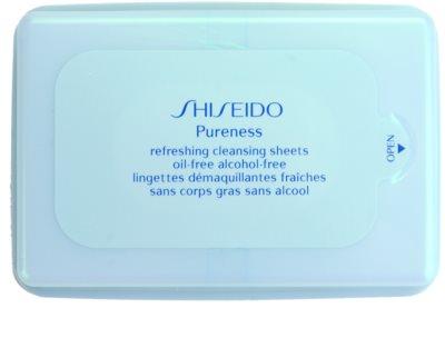 Shiseido Pureness очищуючі серветки для глибокого очищення шкіри
