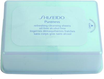 Shiseido Pureness очищуючі серветки для глибокого очищення шкіри 1