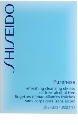 Shiseido Pureness servetele demachiante pentru curatare profunda 2