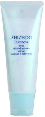 Shiseido Pureness espuma cremosa de limpeza profunda com micro grânulos