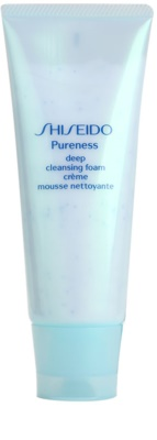 Shiseido Pureness hloubkově čisticí krémová pěna s mikrogranulemi