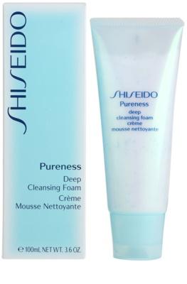Shiseido Pureness tiefenreinigender Creme-Schaum mit Mikrogranulat 1