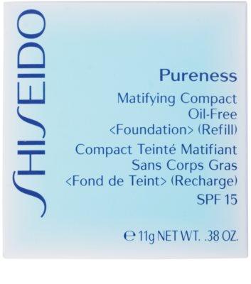 Shiseido Pureness kompakt make-up SPF 15 utántöltő 2