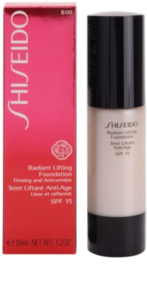Shiseido Base Radiant Lifting rozjasňující liftingový make-up SPF 15 2