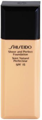 Shiseido Base Sheer and Perfect Flüssiges Make Up SPF 15