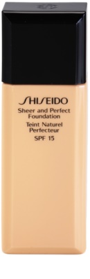 Shiseido Base Sheer and Perfect folyékony make-up SPF 15