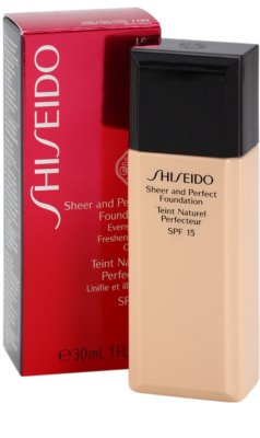 Shiseido Base Sheer and Perfect folyékony make-up SPF 15 2