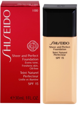 Shiseido Base Sheer and Perfect folyékony make-up SPF 15 3