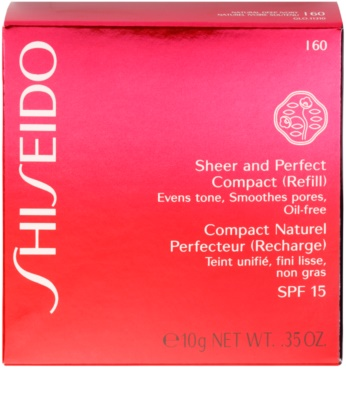 Shiseido Base Sheer and Perfect pudra compactra - refill SPF 15 2