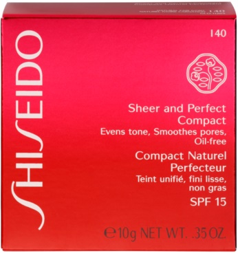 Shiseido Base Sheer and Perfect das pudrige Kompakt-Make-up SPF 15 3