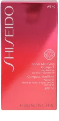 Shiseido Base Sheer Matifying das pudrige Kompakt-Make-up SPF 10 3