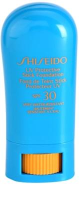 Shiseido Sun Foundation wodoodporny podkład ochronny w sztyfcie SPF 30