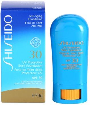 Shiseido Sun Foundation maquillaje protector resistente al agua en barra SPF 30 1