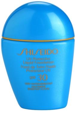 Shiseido Sun Foundation fard lichid rezistent la apa SPF 30