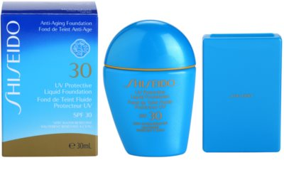 Shiseido Sun Foundation wasserfestes Flüssig-Make up SPF 30 3