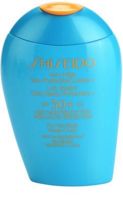 Shiseido Sun Protection leite solar de rosto e corpo SPF 50+