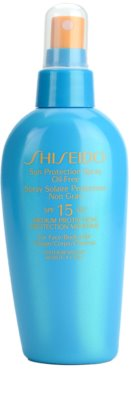 Shiseido Sun Protection спрей за загар  SPF 15