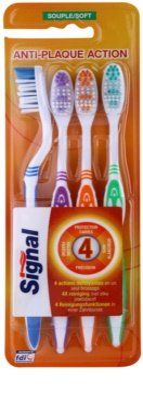 Signal Anti-Plaque Action cepillo de dientes suave 4 uds