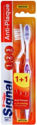 Signal Anti-Plaque szczoteczki do zębów medium 2 szt.