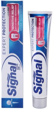 Signal Expert Protection Sensitive Relief pasta de dientes para encías sensibles 1