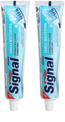 Signal Family Whitening dentífrico com efeito branqueador