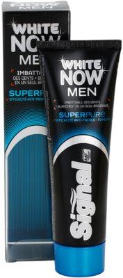 Signal White Now Men Super Pure pasta de dientes para hombre con efecto blanqueador 2