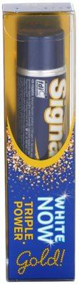 Signal White Now Triple Power Gold dentífrico com efeito branqueador 3