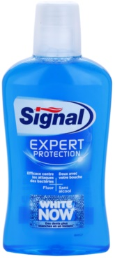 Signal White Now Expert Protection вода за уста с избелващ ефект