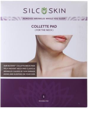 SilcSkin Collette Pad almofadas de silicone reafirmantes e antirrugas para zona do pescoço