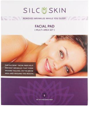 SilcSkin Facial Pad almohadillas de silicona antiarrugas para la zona de la frenta, ojos y boca