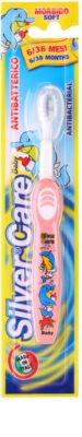 SilverCare Baby escova de dentes antibacteriana para crianças soft