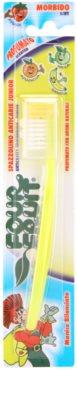 SilverCare Four Fruit Banana periuta de dinti parfumata pentru copii fin