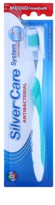 SilverCare System Structured antibakteriális fogkefe közepes