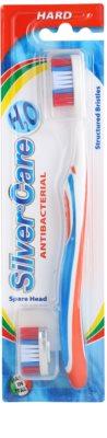 SilverCare H2O антибактериална четка за збъи със сменяем накрайник hard