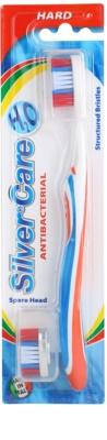 SilverCare H2O antibakterielle Zahnbürste mit Wechselkopf hart