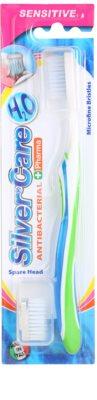 SilverCare H2O escova de dentes antibacteriana com cabeça de reposição para gengivas sensíveis