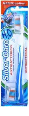 SilverCare H2O antibakteriális fogkefe cserélhető fejjel közepes