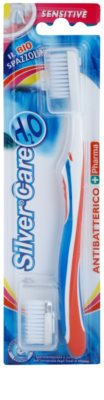 SilverCare H2O antibakterijska zobna ščetka z zamenljivo glavo za občutljive dlesni