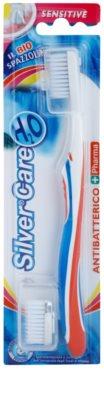 SilverCare H2O cepillo dental antibacteriano con cabezal intercambiable para encías sensibles