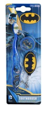 SmileGuard Batman szczoteczka do zębów dla dzieci z osłonką podróżną i breloczkiem soft
