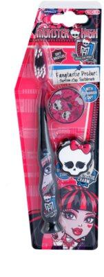 SmileGuard Monster High zobna ščetka za otroke s potovalnim pokrovčkom in obeskom za ključe soft