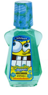 SmileGuard SpongeBob płyn do płukania jamy ustnej dla dzieci z fluorem
