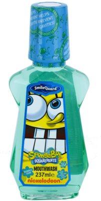 SmileGuard SpongeBob рідина для полоскання ротової порожнини для дітей з фтором