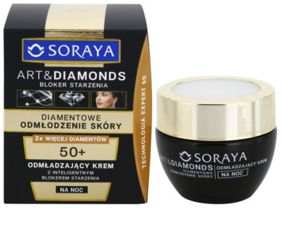 Soraya Art & Diamonds creme de noite rejuvenescedor com pó diamantino 1