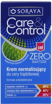 Soraya Care & Control антибактеріальний крем для шкіри з недоліками 2