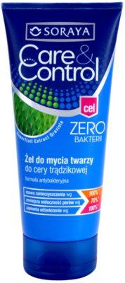 Soraya Care & Control gel de curatare antibacterial impotriva acneei