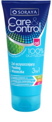 Soraya Care & Control gel de curatare 3 in 1 impotriva acneei